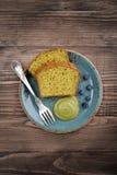 Pound cake with tea matcha Royalty Free Stock Image