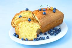 Pound cake stock image