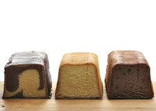 Pound Cakes. Assortment Of Pound Cakes On A Cutting Board stock photo