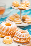 Pound cakes on a plate Royalty Free Stock Image