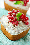 Pound cakes with red currant Royalty Free Stock Image