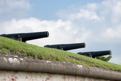 32 Pound Cannons Royalty Free Stock Photography