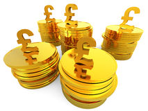 Pound Cash Represents Saved Revenue And Finance. Pound Cash Indicating British Pounds And Finance royalty free illustration