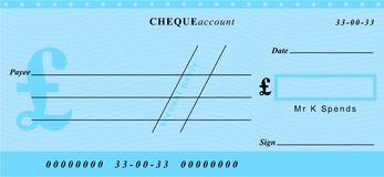 Pound cheque Stock Photography