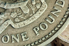 Pound coin detail Royalty Free Stock Images