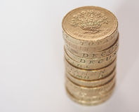 Pound coin pile Royalty Free Stock Photo