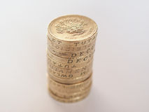 Pound coin pile Stock Image