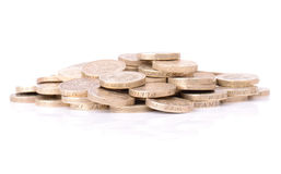 Pound coin pile Stock Images