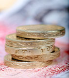 Pound coin stack Royalty Free Stock Photography