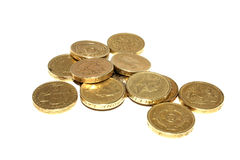 Pound Coins. A Pile of One Pound Coins Stock Images