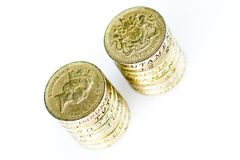 Pound Coins. A pile of british pound coin Stock Images