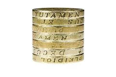 Pound Coins. A pile of british pound coin Stock Photo