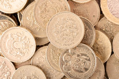 Pound coins Royalty Free Stock Images
