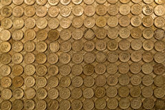 Pound coins. Full frame of British one pound coins Stock Image