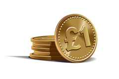 Pound coins vector illustration Royalty Free Stock Photography