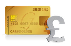 Pound credit card concept illustration design. Over white Royalty Free Stock Images