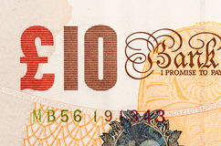 Pound currency background - 10 Pounds Stock Image