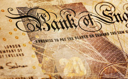 Pound currency background - 20 Pounds - Vintage sepia Stock Photo