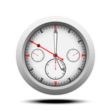 Pound currency clock .Time is money in pound currency signed with black shadow stock image