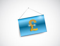 Pound currency hanging sign illustration Royalty Free Stock Photo