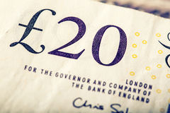 Pound currency, money, banknote.  English currency. UK banknotes of different values stacked on each other Royalty Free Stock Photos