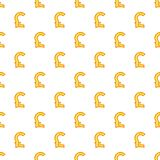 Pound currency symbol pattern, cartoon style. Pound currency symbol pattern. Cartoon illustration of pound currency symbol vector pattern for web Stock Image