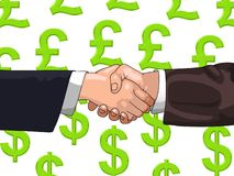 Pound-Dollar-Deal Stock Photos