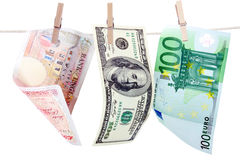 Pound, Dollar and Euro Royalty Free Stock Image