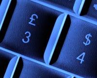 Pound and Dollar keys stock image