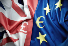 The pound and the euro Royalty Free Stock Photo