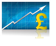 Pound Exchange / Vector. Pound currency trading graph. vector file available Royalty Free Stock Photography