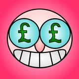 Pound eyes Royalty Free Stock Photography