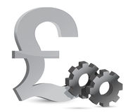 Pound gears illustration Royalty Free Stock Photography