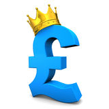 Pound Golden Crown Stock Image