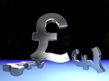 Pound In Space Royalty Free Stock Images