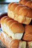 Bread pound stacked into layers is for sale. royalty free stock photos