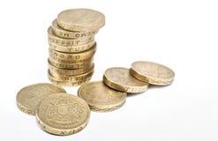 Pound-Münzen Stockfoto