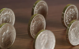 Pound-Münzen Lizenzfreies Stockfoto