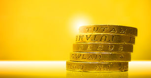 Pound-Münzen Stockfotografie