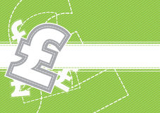 Pound money background design Stock Images