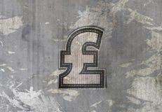 Pound money label Royalty Free Stock Image