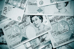 Pound notes Royalty Free Stock Images