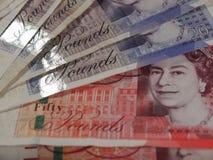 Pound notes Royalty Free Stock Photos