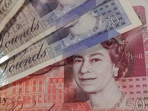 Pound notes Royalty Free Stock Photography