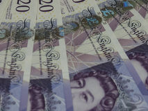20 Pound notes, United Kingdom in London Royalty Free Stock Image