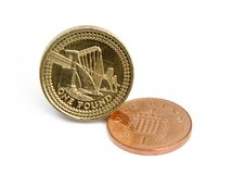 Pound and penny Stock Images
