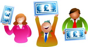 Pound people stock images