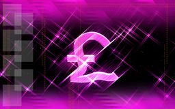Pound in pink background Stock Photography