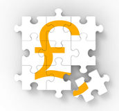 Pound Puzzle Showing Great Britain Banking Status Royalty Free Stock Images
