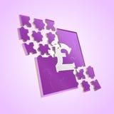 Pound puzzle stock photo